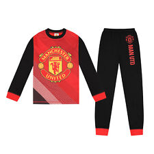 Manchester United FC Official Football Gift Boys Sublimation Long Pyjamas