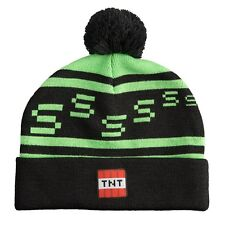 Minecraft Creeper TNT Knit Pom Beanie