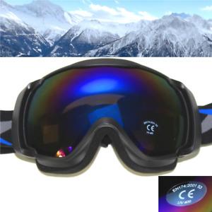 SKIBRILLE S3 Sonnenfilter glacier UV400 Schwarz Herren Schneebrille yx05 3663