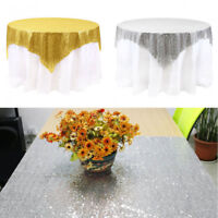 Wedding Glitter Sequin Rectangular Tablecloth Table Cloth Cover Banquet UK-Stock