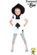 CHILDRENS  CHILDS ALICE IN WONDERLAND PLAYING CARD FANCY DRESS COSTUME AGE 3-5-7