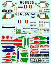 Colorado Decals 1/32 TOYOTA COROLLA WRC 98 Rally Great Britain & Rally Finland