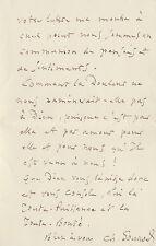 Charles GOUNOD.  Lettre autographe signée à Raoul Lafagette. 1892