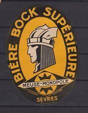 Ancienne étiquette Bière Alcool France Bock Meuse Homme