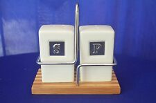 Modern Bamboo Collection Lorren House Trends Porcelain Salt and Pepper Shakers