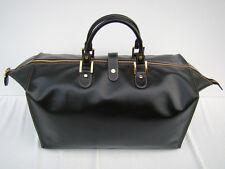 BRAND NEW GOLDPFEIL BLACK LEATHER XL DUFFLE BAG-WEEKEND BAG- HANDMADE INGERMANY