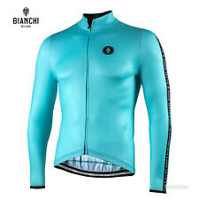 Bianchi Milano VALFURVA Long Sleeve Cycling Jersey : CELESTE