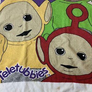 Teletubbies Eh Oh Beach Bath Towel Vintage 1998 Rag Doll Tinky Winky Jay Franco