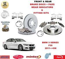 pour BMW 318i 318d F30 avant et arrière PLAQUETTES DE FREIN disques