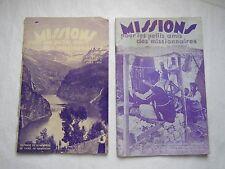 LOT de 2 REVUES : MISSIONS pour les petits amis des missionnaires, 1934-35