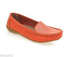 Standard (D) Width 100% Leather Geometric Flats for Women