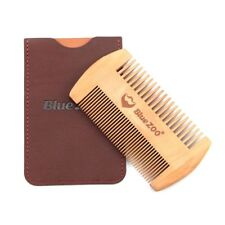 Beard Comb Wood Anti Static Wooden Pocket Hair Care Brush Trim Facial Face Fine