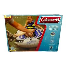 Coleman 2 Person Navigator Boat Raft With Dual Oars