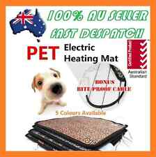 2018 Pet Electric Heat Heated Heating Heater Pad Mat Blanket Bed Dog Cat Bunny