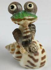 Folk Art Seashell Frog Playing Musical Instrument