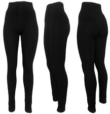 Polarfleece Leggings Damen 2x warme Winter-Leggings gefüttert Viskose Baumwolle