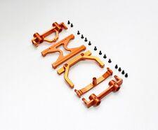 Axial SCX10 #SCX28 Aluminum Front & Rear Bumper Mount, H Brace set Orange