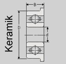 Keramik Kugellager MF63 ZZ/C, 3x6x2,5, MF 63 ZZ/C Hybrid