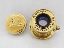 Leitz Elmar f3,5/5cm Russian EXC!!! Gold M39 Lens for 35mm RF Camera Leica II(D)