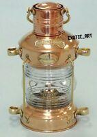 "Nautical Brass Copper Ship Lantern~Marine Anchor Lamp~Maritime Boat Light~13.5"""