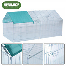 HERITAGE® Rabbit Guinea Pig Animal Playpen Metal Pet Run Enclosure Chicken Puppy