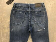 NWT WOMEN'S ONE TEASPOON JEANS CROP STRAIGHT HOOLIGANS SEAMONSTER BLUE SIZE 26