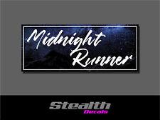 Midnight Runner Drift Slap Sticker Decal, Stance, Initial D