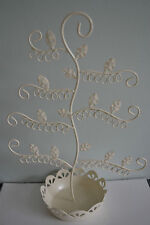 CREAM JEWELLERY EARRING DISPLAY STAND HOLDER HOOK TREE