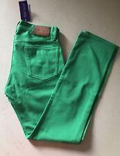 NWT $495 Ralph Lauren Purple Label Mens Jeans Pants Green 31 US Italy