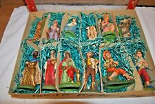 Anciens sujets santons de Noël en plâtre made in Italy -Old Christmas figurines