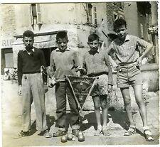 PHOTO Tournoi Pentecôte 1957 pupilles champions pétanque jeu boule