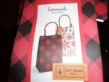 """Home Made Holidays 19""""x3.38"""" Gift Bags- 4 Pack - (set of 12)"""