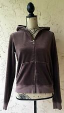 JUICY COUTURE UNITED STATES XL COTTON BLEND WOMEN'S SWEATS HOODIE TRACK JACKET