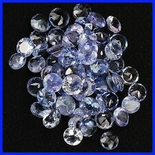 5 PIECES OF 2.5mm ROUND-FACET PURPLE/BLUE NATURAL TANZANITE GEMSTONES