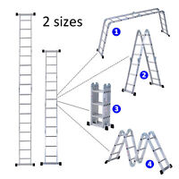 Foldable Platform Aluminum Ladder Multi-functional Folding Scaffold Extension