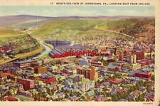 BIRD'S-EYE VIEW OF JOHNSTOWN, PA, LOOKING EAST FROM INCLINE
