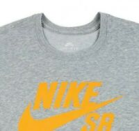 SZ XL 🆕👌UNIQUE Nike SB Men's Dri-Fit Logo Print S/S T-Shirt Gray 821946-073