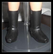 SHOES KEN DOLL MATTEL JAMES DEAN STANDARD  BLACK  SNAP BOOTS ACCESSORY CLOTHING