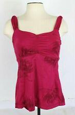 Lululemon Womens XS/S Pink Tank Top Floral Print Mesh Athletic Yoga Athleisure