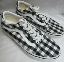 Vans Gingham Old Skool Black and White Canvas Shoes Mens 3.5/Womens 5.0 NWOB