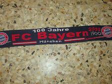 echarpe scarf schal football 100 JAHRE BAYERN MUNCHEN MUNICH 1900-2000 GERMANY