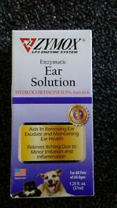 ZYMOX Ear Solution Hydrocortisone 0.5% Inflammation Relief 1.25 oz  Exp 1/2024