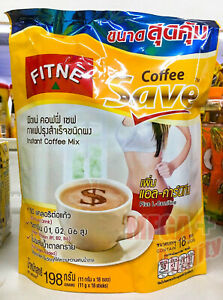 Fitne Instant Coffee L- Carnitine Low Calories Weight Control Sugar Free 18 sach