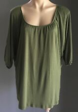 Pre-owned Khaki WITCHERY Casual 3/4 Dolman Sleeve Top Size M/12