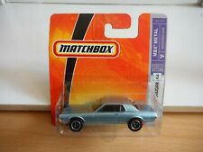 Matchbox '68 Mercury Cougar in Light Blue on Blister