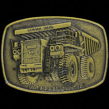Lectra Haul Truck Rig Heavy Equipment Machinery Mining Miner 80 Vtg Belt Buckle