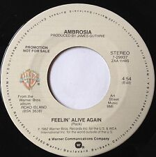 Ambrosia 45 Feelin' Alive Again  PROMO  EX