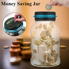 LCD Display Piggy Bank Coin Saving Box Automatic Counting Money Jar Xmas Gift US