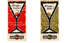 1963 MARTINI & ROSSI VERMOUTH ~ 2-ORIGINAL PRINT ADS