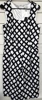 White House Black Market Size 10 Dress Sleeveless checkered missing belt Pockets